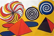 Sale 8442A - Lot 14 - Alexander Calder (1898 - 1976) - Untitled, c1970 (Pyramids and Pin Wheels) 73 x 108cm