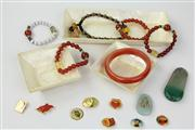Sale 8473 - Lot 7 - Assortment of Chinese Jewellery in Bangle Bracelet and Jade etc