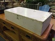 Sale 8566 - Lot 1559 - Painted Timber Lift Top Fitted Box