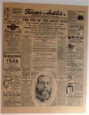 Sale 8639 - Lot 8 - The End of the Great War, Commemorative Edition of The Farmer and Settler Newspaper of Sydney in miniature for Tuesday November 12 1...