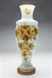 Sale 8662 - Lot 8 - A Murano Hand Painted Milky Glass Vase