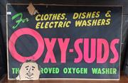 Sale 8872 - Lot 1046 - Vintage Cardboard Oxy-Suds Advertising Sign