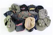 Sale 8952M - Lot 625 - A Collection Of Various Military Hats And Caps Incl German And US