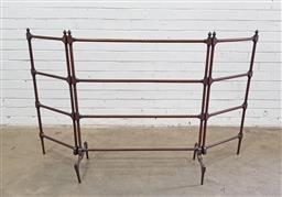 Sale 9126 - Lot 1099 - Late Victorian/ Edwardian Cedar Folding Towel Rail, with two hinged sides, all with four rails and of very slender turning (h:93 x w...