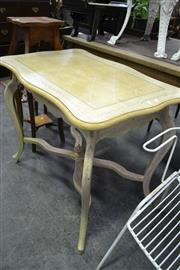 Sale 8105 - Lot 1097 - Hand Painted Occasional Table w Stretcher Base