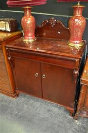 Sale 8115 - Lot 1007 - Chiffonier w Carved Back