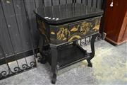 Sale 8127 - Lot 813 - Tiered Oriental Table w Lift Top & Single Drawer