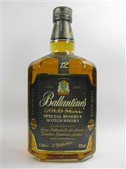 Sale 8278 - Lot 1752 - 1x Ballantines Gold Seal 12YO Special Reserve Blended Scotch Whisky  - 1000ml