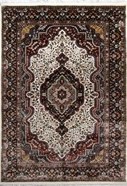 Sale 8307A - Lot 19 - Indian Silk Inlaid 152cm x 217cm RRP $2000