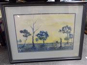 Sale 8417T - Lot 2069 - Barne Littlefield (XX - ) - View of Country Cottage Farm 35 x 54cm