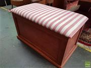 Sale 8469 - Lot 1037 - Timber Blanket Box with Toys