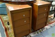 Sale 8507 - Lot 1096 - Pair of Pine Four Drawer Side Tables