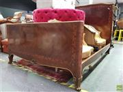 Sale 8570 - Lot 1071 - Empire Style Bed with Gilt Mounts (140 x 210 x 160cm)