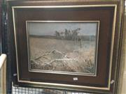 Sale 8767 - Lot 2010 - Patrick Shirvington - Magpies and Country Landscape, oil on board, 58 x 60cm (frame), signed lower right