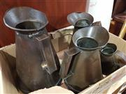 Sale 8979 - Lot 1018 - Collection of Four Graduating Oil Cans (H:30cm)
