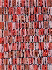 Sale 8309 - Lot 510 - Jeannie Mills Pwerle (1965 - ) - Bush Yam 98 x 72cm