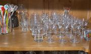 Sale 8402H - Lot 88 - A quantity of etched drinking glasses, together with other bar wares.