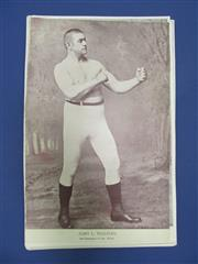 Sale 8419A - Lot 1 - Early Boxing Portraits - 53 different portraits from the National Police Gazette 1890s-1900s, all cut to size, including John L Sull...