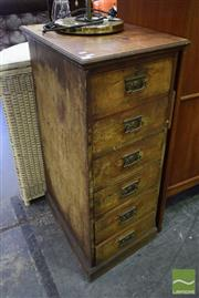 Sale 8532 - Lot 1299 - Pair of Oak Camphor Front 7 Drawer Chests