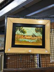 Sale 8702 - Lot 2051 - Nick Petali - Outback Shack oil on board, 22 x 33cm, signed lower right