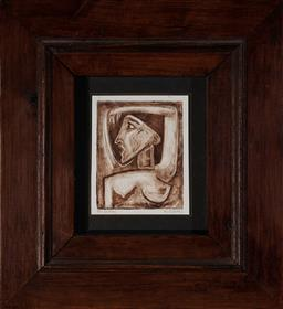 Sale 9123 - Lot 2050 - Nigel Gillings (3 works) - The Lovers, The Sentinel, The Prince (2) 12.5 x 10 cm, (1) 20 x 15.5 cm, (frames: 35 x 32 x 3 cm, 45 x 37...