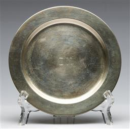 Sale 9175 - Lot 71 - A Silver (800) Dish (Dia:17cm), Together With a Smaller Example (Dia 13cm) (Combined wt 260g)