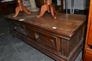 Sale 8013 - Lot 1145 - Timber Two Drawer Bench Seat