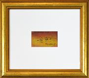 Sale 8271A - Lot 6 - Kevin Charles (Pro) Hart (1928 - 2006) - Proverbs 6:6 6.5 x 11cm (frame 33 x 38cm)