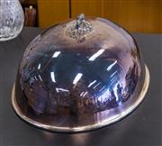 Sale 8310A - Lot 85 - An electroplate meat dome of oval form - width 46cm