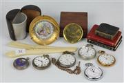 Sale 8391 - Lot 57 - English Hallmarked Sterling Silver Pocket Watches with Other Wares incl Miniature Books