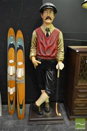 Sale 8520 - Lot 1080 - Fibreglass Golfing Statue