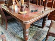 Sale 8740 - Lot 1180 - Late Victorian Table with Leather Top and Turned Legs