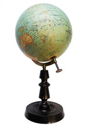 Sale 8960J - Lot 60 - Antique French terrestrial globe by J. Forest of Paris. Globe diameter 25cm & overall Ht:  55 cm