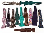 Sale 9080F - Lot 69 - A LARGE ASSORTMENT OF SILK BOW TIES in various designs and brands including Harrods, Hardy Amis etc