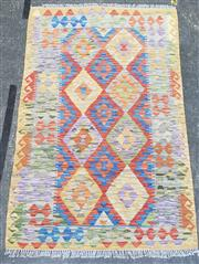 Sale 9080 - Lot 1026 - Hand knotted pure wool persian kilim (164 x 103cm)