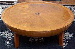 Sale 9190H - Lot 473 - A Starburst round coffee table (damages) together with a wooden Balmoral coffee table Height 45cm x Width 125cm x Depth 65cm