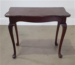 Sale 9255 - Lot 1124A - Timber hall table (h:77 x w:92 x d:49cm)