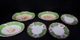 Sale 9254 - Lot 2175 - A collection of Limoges plates and dishes