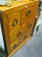 Sale 7972A - Lot 1077 - Unusual 6 Drawer Chest with Hoop Handles