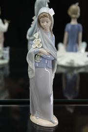 Sale 7989 - Lot 13 - Lladro Figure of a Maiden with Flowers