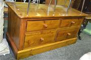 Sale 8165 - Lot 1100 - Pine Chest of 4 Drawers