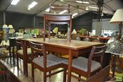Sale 8310 - Lot 1096 - White and Newton of Portsmouth Teak Table and 4 Chairs