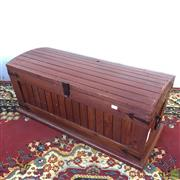 Sale 8649R - Lot 22 - Timber Metal Bound Chest (32 x 79 x 34cm)