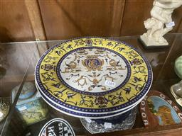 Sale 9101 - Lot 2185 - Pair of Chinese Blue & Yellow Plates -