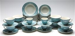 Sale 9238 - Lot 18 - A suite of Royal Doulton Reflection tea wares incl. 14 bowls, 14 small bowls, 12 duos, 6 coffee cups and 6 coupes