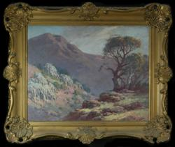 Sale 7923 - Lot 518 - Alfred Sutton, Valley Landscape, Oil on panel, signed lower right, in the manner of Long. 38 x 48cm -
