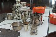 Sale 8081 - Lot 49 - Silver Plated Samovar with Other Plated Wares incl Wine Coasters