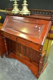 Sale 8093 - Lot 1001 - Reproduction Mahogany Drop Front Desk
