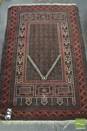 Sale 8312 - Lot 1095 - Red Toned Floor Rug (93 x 143cm)
