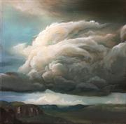 Sale 8336A - Lot 12 - Min Woo Bang - Dance of Clouds Oil on canvas 30 x 30cm